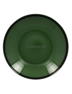 Тарелка глубокая зеленая 26см 1200мл фарфор RAK серия LEA