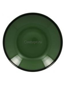 Тарелка глубокая зеленая 30см 1900мл фарфор RAK серия LEA