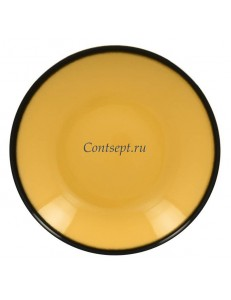 Тарелка глубокая желтая 26см 1200мл фарфор RAK серия LEA