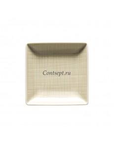 Тарелка квадратная 10х10см фарфор Rosenthal серия Mesh Cream