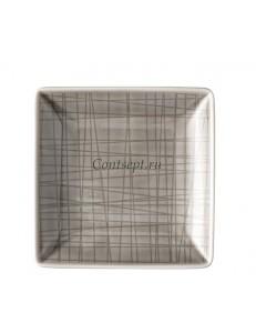 Тарелка квадратная 10х10см фарфор Rosenthal серия Mesh Mountain