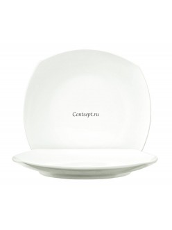 Тарелка квадратная 17х17см закругленный край фарфор PL Proff Cuisine