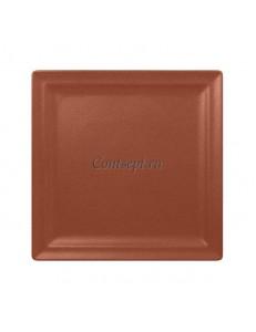 Тарелка квадратная 25х25 см фарфор RAK серия Terra
