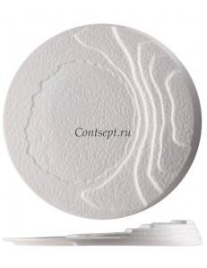 Тарелка квадратная 30х30см черная фарфор PL Proff Cuisine