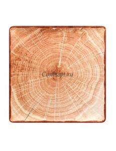 Тарелка квадратная 30х30см красно-коричневая фарфор RAK серия Woodart