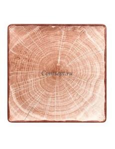 Тарелка квадратная 30х30см светло-коричневая фарфор RAK серия Woodart