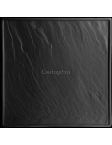 Тарелка квадратная черная 25х25см фарфор PL Proff Cuisine