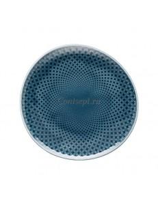 Тарелка мелкая 16х15,5см фарфор Rosenthal серия Junto Ocean Blue