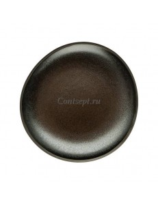 Тарелка мелкая 16х15см фарфор Rosenthal серия Junto Slate Grey
