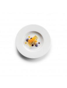 Тарелка мелкая 17см матовый фарфор PORDAMSA серия Sphere matte