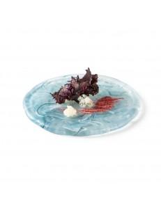 Тарелка мелкая 18см стекло PORDAMSA серия Aquamare