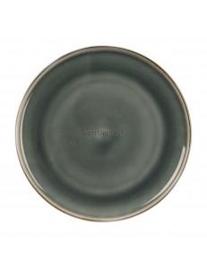 Тарелка мелкая 20см цвет темно-серый серия Black Spider Silk фарфор PL Proff Cuisine