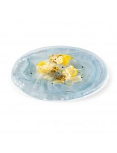 Тарелка мелкая 21см стекло PORDAMSA серия Aquamare