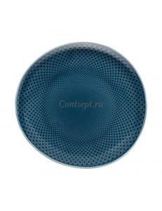 Тарелка мелкая 22х21см фарфор Rosenthal серия Junto Ocean Blue