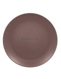 Тарелка мелкая 24см коричневая фарфор RAK серия  Mellow Neofusion