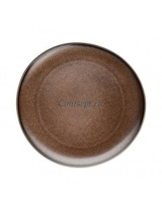 Тарелка 25х24см керамика Rosenthal серия Junto Bronze