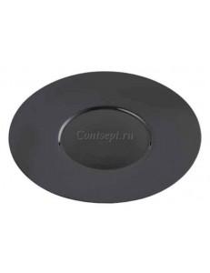 Тарелка мелкая 26см черная фарфор PL Proff Cuisine