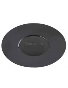 Тарелка мелкая 31см черная фарфор PL Proff Cuisine