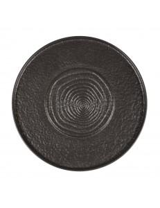 Тарелка мелкая с подиумом 30 см фарфор PL Proff Cuisine серия Black star