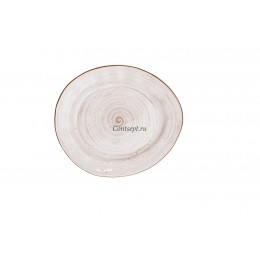 Тарелка овальная  22.5х19.5см фарфор PL Proff Cuisine серия WHITE FUSION