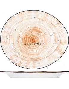 Тарелка овальная 17,5х15,5cм фарфор PL Proff Cuisine серия DESERT FUSION