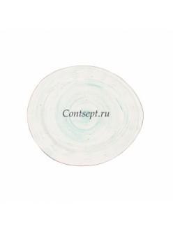 Тарелка овальная 17,5х15,5см фарфор PL Proff Cuisine серия CORAL FUSION