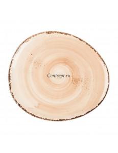 Тарелка овальная 19х16,5см фарфор PL Proff Cuisine серия ORGANICA SAND