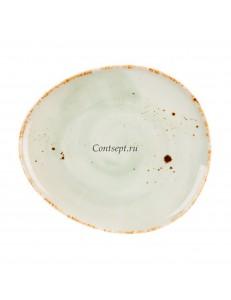 Тарелка овальная 19х17см фарфор PL Proff Cuisine серия ORGANICA GREEN