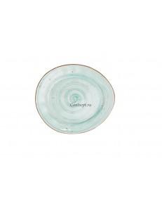 Тарелка овальная 22,5х19,5см фарфор PL Proff Cuisine серия OCEAN FUSION