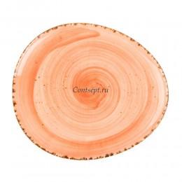 Тарелка овальная 22,5х19,5см фарфор PL Proff Cuisine серия ORGANICA SPICY