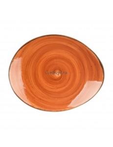Тарелка овальная 24,5х20см серия Brown Shore Fusion фарфор PL Proff Cuisine