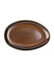 Тарелка 25х16,5см керамика Rosenthal серия Junto Bronze