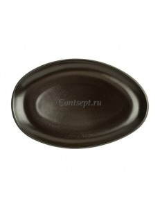 Тарелка овальная 25х16,5см фарфор Rosenthal серия Junto Slate Grey