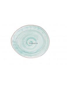 Тарелка овальная 26,5х22,5см фарфор PL Proff Cuisine серия OCEAN FUSION