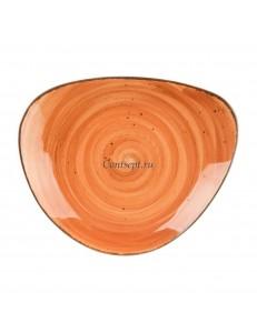 Тарелка овальная 26,5х22,5см серия Brown Shore Fusion фарфор PL Proff Cuisine