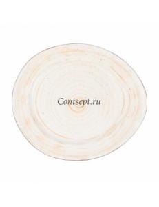 Тарелка овальная 26х22,5см фарфор PL Proff Cuisine серия DESERT FUSION
