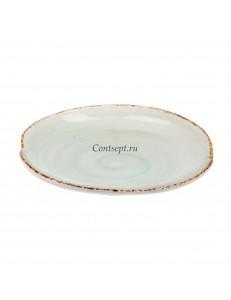 Тарелка овальная 27см фарфор PL Proff Cuisine серия ORGANICA GREEN