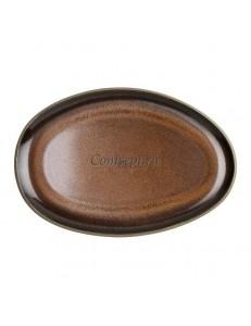 Тарелка овальная 28,5х19,5см керамика Rosenthal серия Junto Bronze