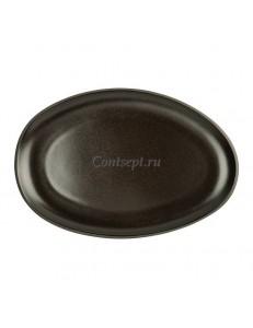 Тарелка овальная 28,5х19,5см фарфор Rosenthal серия Junto Slate Grey