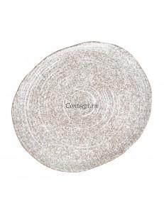 Тарелка овальная 29х25х1 см серия Untouched Taiga матовый фарфор PL Proff Cuisine