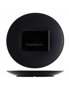 Тарелка овальная 30,5х29см черная фарфор PL Proff Cuisine