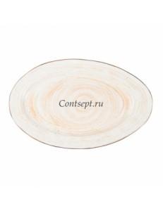 Тарелка овальная 31,5х20см фарфор PL Proff Cuisine серия DESERT FUSION
