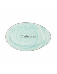 Тарелка овальная 31,5х20см фарфор PL Proff Cuisine серия OCEAN FUSION