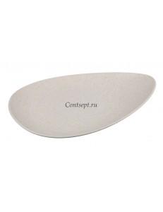 Тарелка овальная 32х24х2см серия Elephant Ivory матовый фарфор PL Proff Cuisine