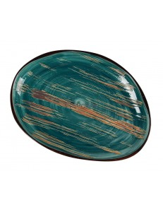 Тарелка овальная 33х25х2,7см серия Texture фарфор PL Proff Cuisine