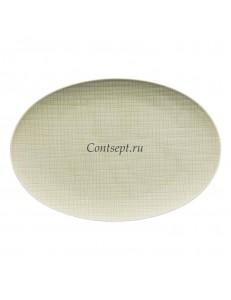 Тарелка овальная 34х24см фарфор Rosenthal серия Mesh Cream