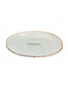 Тарелка овальная 35х27см фарфор PL Proff Cuisine серия ORGANICA GREEN