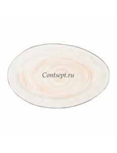 Тарелка овальная 40х25см фарфор PL Proff Cuisine серия DESERT FUSION