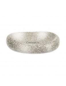Тарелка овальная в виде камня 26х20х6см серия Untouched Taiga матовый фарфор PL Proff Cuisine