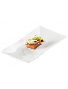 Тарелка прямоугольная 25х14см фарфор PORDAMSA серия Gastro